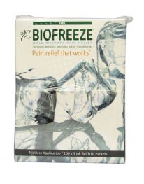 Biofreeze Pain Relieving Gel - 100 packet box - front view