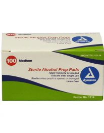 Alcohol Prep Pads - 100/box - front view