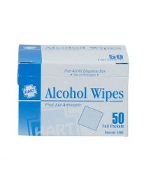 Alcohol Wipes 50 count box - front view