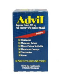 Advil ibupfofen tablets 50 packet box - front view