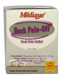 Medique Back Pain-Off - 50 packet box front view