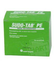 Sudo-Tab PE sinus decongestant - 50 packet box front view