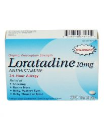 Loratadine non-drowsy allergy relief tablets - 30 box front view