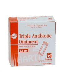 Triple Antibiotic Ointment, .5 gram, 25/box - front view