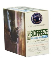 Biofreeze Pain Relieving Gel 25 packet box - front view