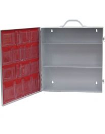 Medium Industrial First Aid Kit Cabinet Empty - open view