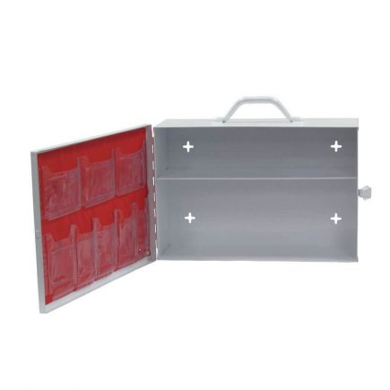 Small Industrial First Aid Kit Cabinet Empty - open view