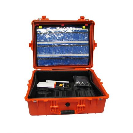 Pelican EMS Case with Organizers/Dividers - Large - open view