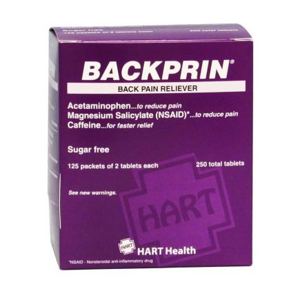 Backprin Back Pain Tablets - front view