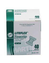 LiteFlex Lite Woven Fingertip regular size Bandages - front view
