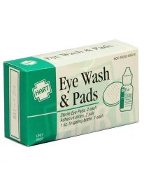 Eye wash and pads unit - front view