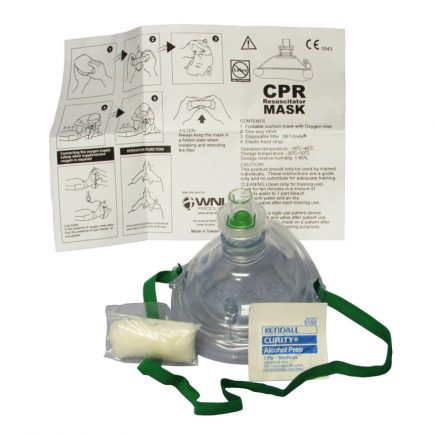 Adult/Child CPR Resuscitator Mask with Hard Case - Expanded View