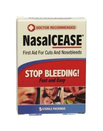 NasalCease stop bleeding packings - 5/box front view