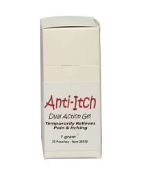 Corium's Anti-Itch Dual Action Gel -1 gram packets - front view