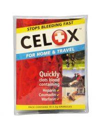 Celox Stop Bleeding Hemostatic Granules - 10/pack - front view